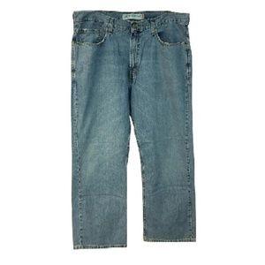 Levi's Blue 567 Loose Boot Cut Cotton Jeans